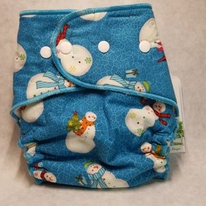 Windpro Fitted Cloth Diaper Cover-Snowman